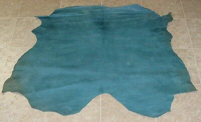 (WWA6812-5) Hide of Teal Soft Surface Lambskin Leather Hides Skin
