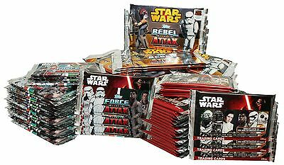 Force Attax 75 Booster!: 25 Rebel Attax, Journey to Star Wars, Erwachen d. Macht