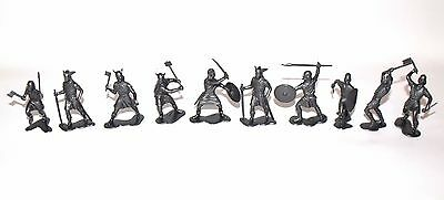 """Viking Warriors Marx Toys Recast 10 Pieces 2"""" 1960's 1/32 Scale 9 Differents"""