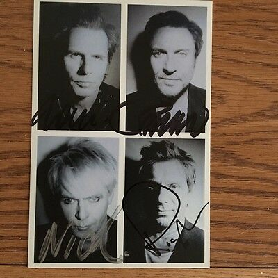 Duran Duran BAND Signed Autographed Paper Gods Post Card