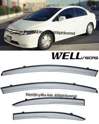 For 06-11 Civic Sedan WellVisors Side Window Visors Aerodyn Series Rain Guard