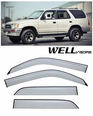 For 96-02 Toyota 4Runner WellVisors Side Window Visors Premium Series