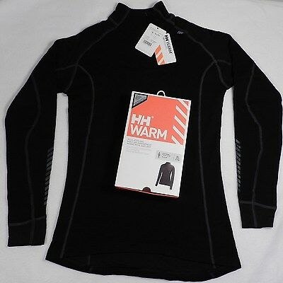 NEW Helly Hansen WARM Freeze w/Wool Base Layer Shirt Top 48543 Women XL Black