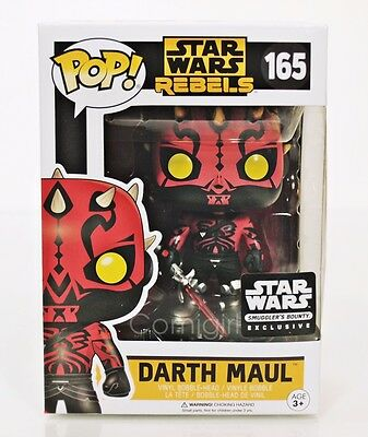 Funko Pop Star Wars Rebels DARTH MAUL #165 Bobble Head Smuggler's Bounty