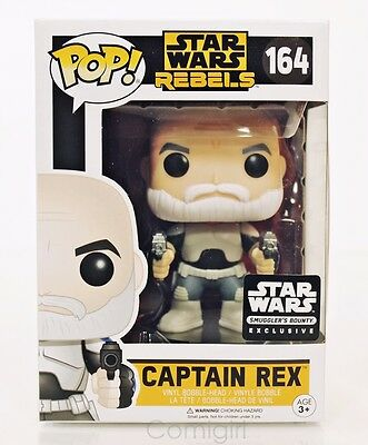 Funko Pop Star Wars Rebels CAPTAIN REX #164 Bobble Head Smuggler's Bounty