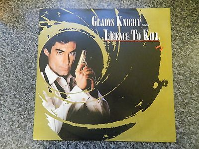James Bond 007 Soundtrack Single Record Mcat-1339 Gladys Knight Licence To Kill