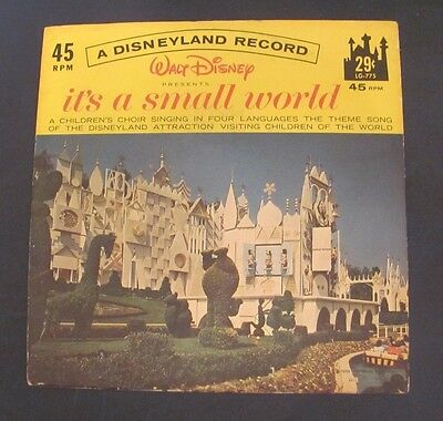 Disney's It's a Small World Record 45 RPM LG-775 w/ Disneyland Picture sleeve