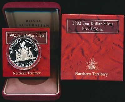 Australia 1992 $10 Sterling Silver Proof State Series - Northern Territory