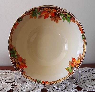 Soup Bowls Grindley Cream Petal Alison Autumn Leaves Made In England 1940s x 5