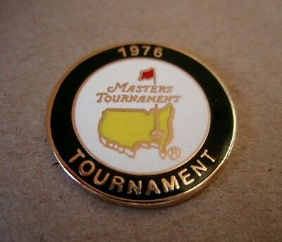 1976 Us Masters (Raymond Floyd's Only Title) Metal Stemmed Golf Ball Marker