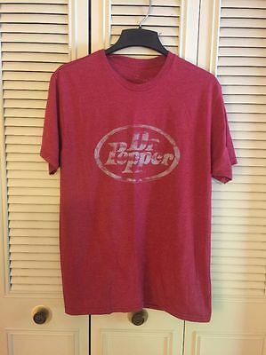 SAVVY DR PEPPER DISTRESSED RETRO VINTAGE STYLE SODA  MAROON T-SHIRT Sz Large