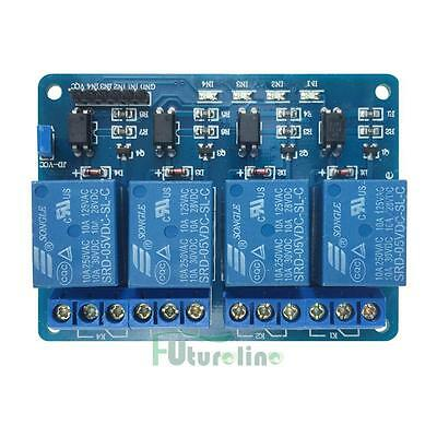 For Arduino 4 Channel 5v Relay Module With Optocoupler PIC AVR DSP ARM US