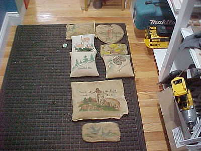 8 Vintage Adirondack Mountains Balsam Pillows