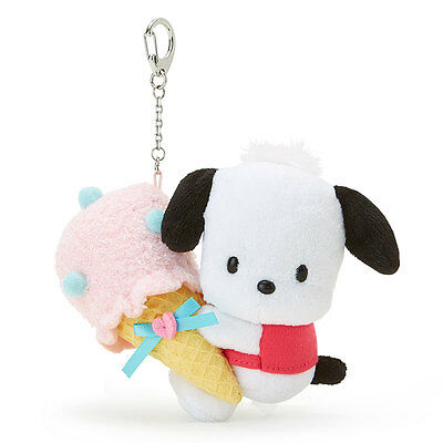 "Sanrio Pochacco Mascot Holder (Ice) 3.5 x 2.5 x 4.9"" Kawaii Cute F/S NEW 2017"