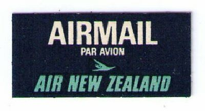 Air New Zealand - Rare Vintage 1966 Airmail Label Cat #nzl-B-8 Low Price (Am23)