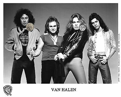 VAN HALEN EARLY GROUP PRESS PUBLICITY PROMO HIGH GLOSS NEW 8x10 PHOTO REPRINT