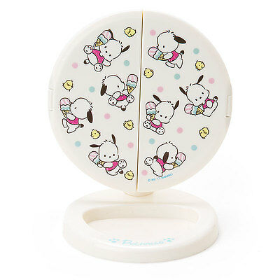 Sanrio Pochacco 3-sided stand mirror (ice) Made in Japan Kawaii Cute 80's Taste