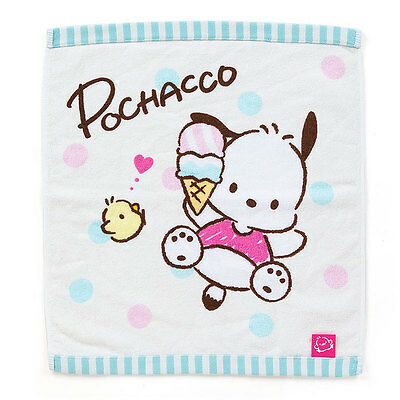 Sanrio Pochacco cotton Hand Towel (Ice) 80's Taste kawaii Cute F/S 2017 NEW