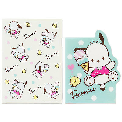 Sanrio Pochacco Clear File Set (Ice) Kawaii Cute F/S 2017 NEW Made in Japan