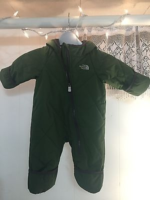 THE NORTH FACE Winter Bunting Green Snowsuit 3-6 Months Infant Snowsuit