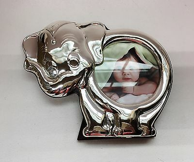THISTLE & BEE T&B Italy Sterling Silver 925 Nursery Elephant Picture Frame ~ New