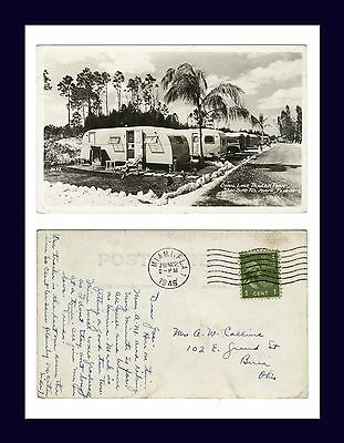 Florida Miami Coral Lake Trailer Park Real Photo 22 June 1946 To Berea, Ohio