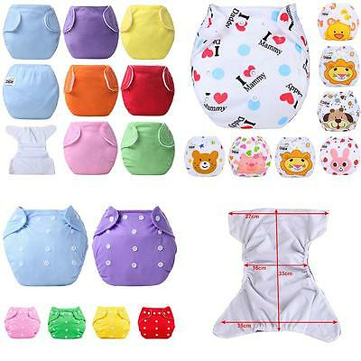 Baby Kids Diaper Cover Adjustable Reusable Nappies Cloth Wrap Diapers Bluelans