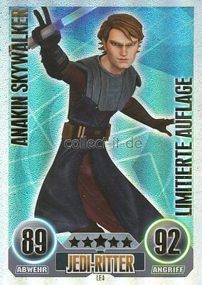 Force Attax Serie 1 (2010) LE4 - ANAKIN SKYWALKER - Limitierte Auflage - Deutsch