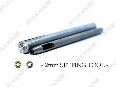 2mm EYELET SETTING TOOL WITH PUNCH LEATHER CRAFT SCRAPBOOKING REPAIR DIY