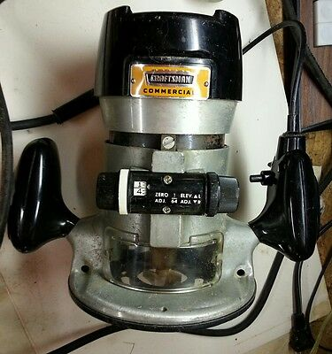 Craftsman Commercial Router 315.17380 1 H.P.-25k RPM Ball Bearing Sears