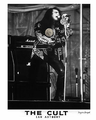 THE CULT IAN LIVE 90's PRESS PUBLICITY PROMO NEW GLOSSY 8x10 PHOTO REPRINT