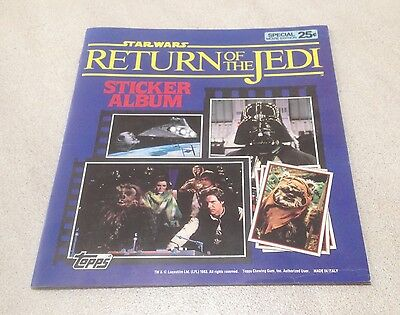 "1983 Topps ""Return of the Jedi"" Unused Sticker Album"