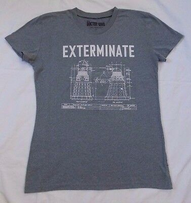 Dr Who EXTERMINATE Dalek Tshirt, size XL, gray, by Her Universe BBC