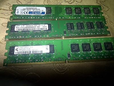 Job Lot Of 3Pcs  1Gig Ddr2 So-Dimm Pc Memory Stick Ram  Tested In Gwo