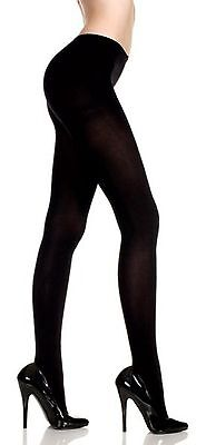 Music Legs Opaque Black Pantyhose Tights Costume Gothic Plus Size