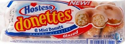 2x Hostess Donettes Glazed (6 Mini Donuts in each pack) 105g
