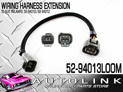 WIRING HARNESS - LAMP EXTENSION LOOM SUIT TOYOTA LANDCRUISER TAIL LIGHT x2