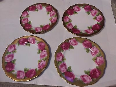 4 Dishes - Royal Albert Old English Rose - 6 Inch