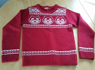 Felix the Cat Sweater youth Red