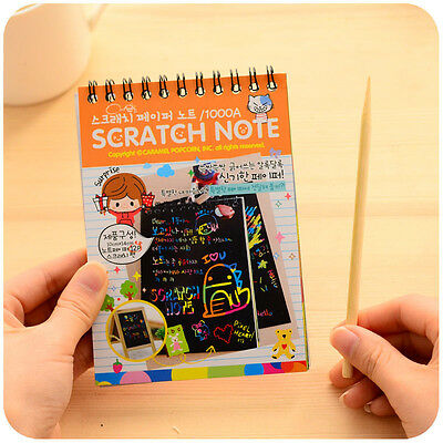 Stationery Notebook Scratch Wooden Scratch Paper Note Paper Scraping Paint DIY