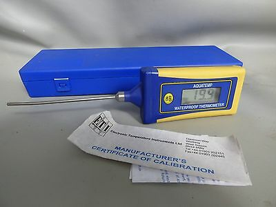 A Good Working Aquatemp Waterproof Thermometer With Case And New Battery