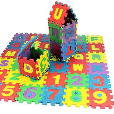 36pcs Kids Baby Alphabet & Number EVA Foam Floor Puzzle Safety Play Mat Rug