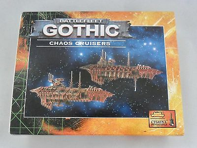Warhammer Battlefleet Gothic BFG CHAOS CRUISERS x2 ON SPRUE IN ORIGINAL BOX
