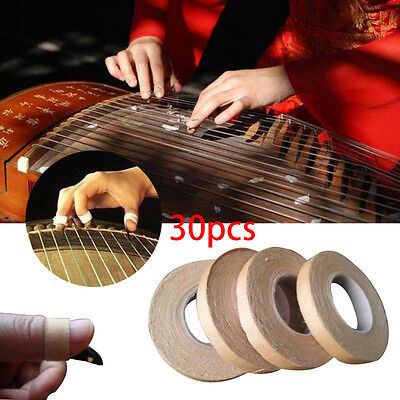 2017 30Rolls 100% Cotton Guzheng Adhesive Tape 1cm For Nails Chinese Zither Harp