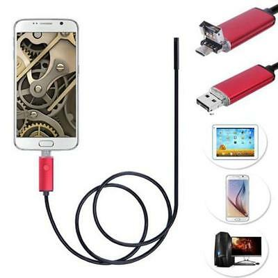 2in1 5.5/7/8mm Lens Endoscope Waterproof Inspection Camera Micro USB for Android