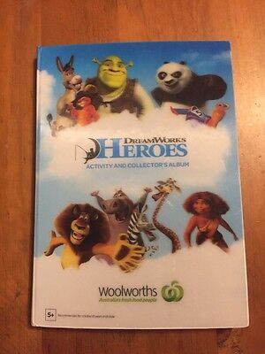 Woolworths Woolies Dreamworks Heroes Full Set Of Cards & Activity Album