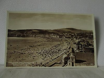 POSTCARD;the sands and promenade from falcon cliff;douglas;I.O.M.