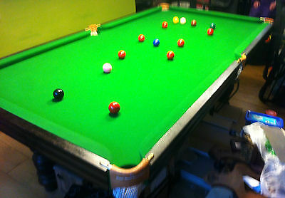 SNOOKER TABLE WITH SLATE BED Approx 7 x 4