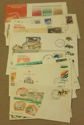 Bulk Lot 25 Australia FDC Stamps Collection