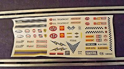 Vintage Tri-Ang Scalextric Original Decals 1960's C18 Ford 3L & C15 Ford Mirage